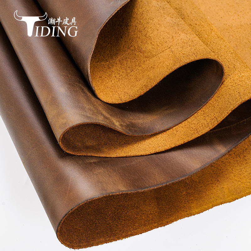 Tiding Oil-impregnated leather, first layer of cow leather, mad cowhide, casual leather fabric No. 1