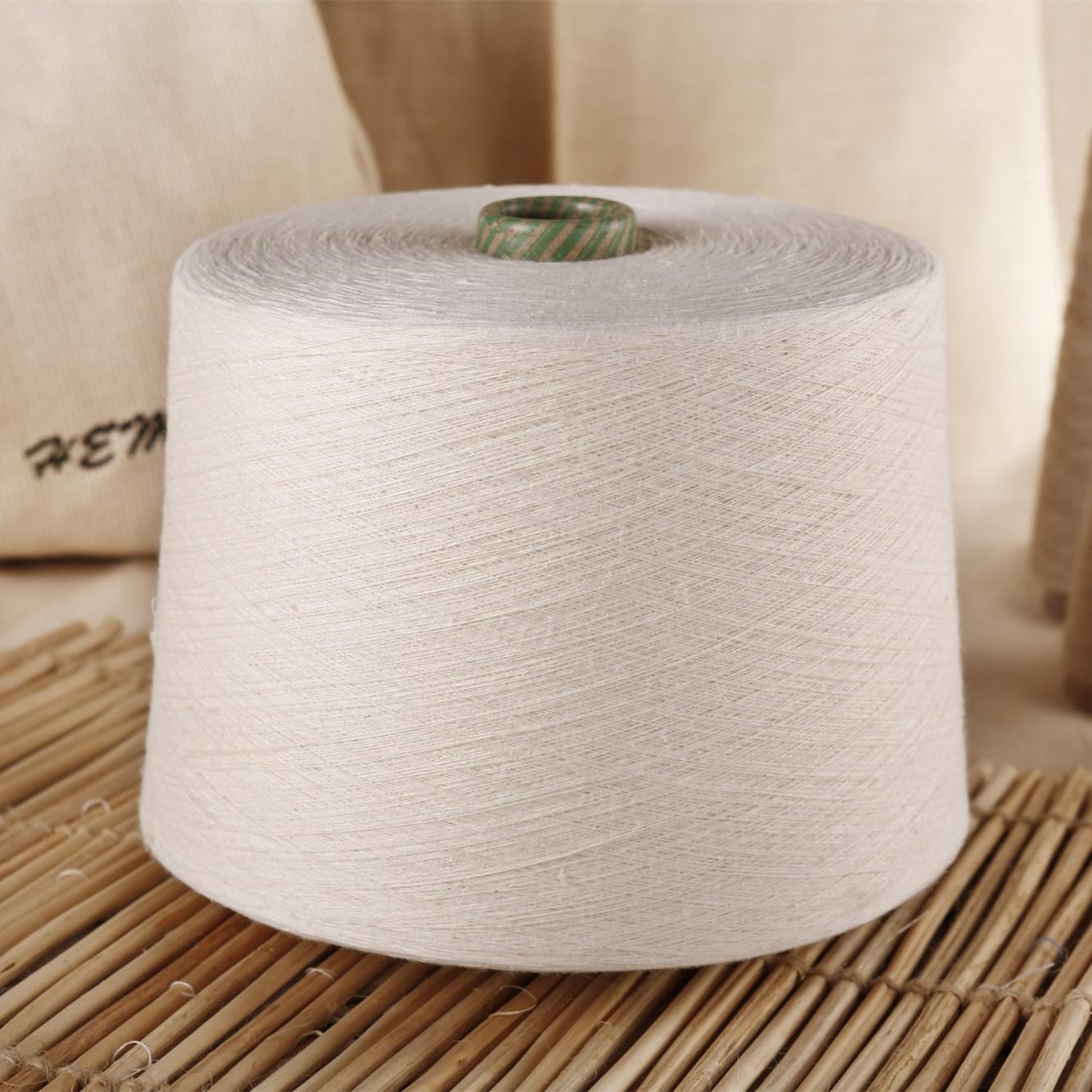 Hemp Organic Cotton Blended Yarn Ring Spinning Linen Spinning