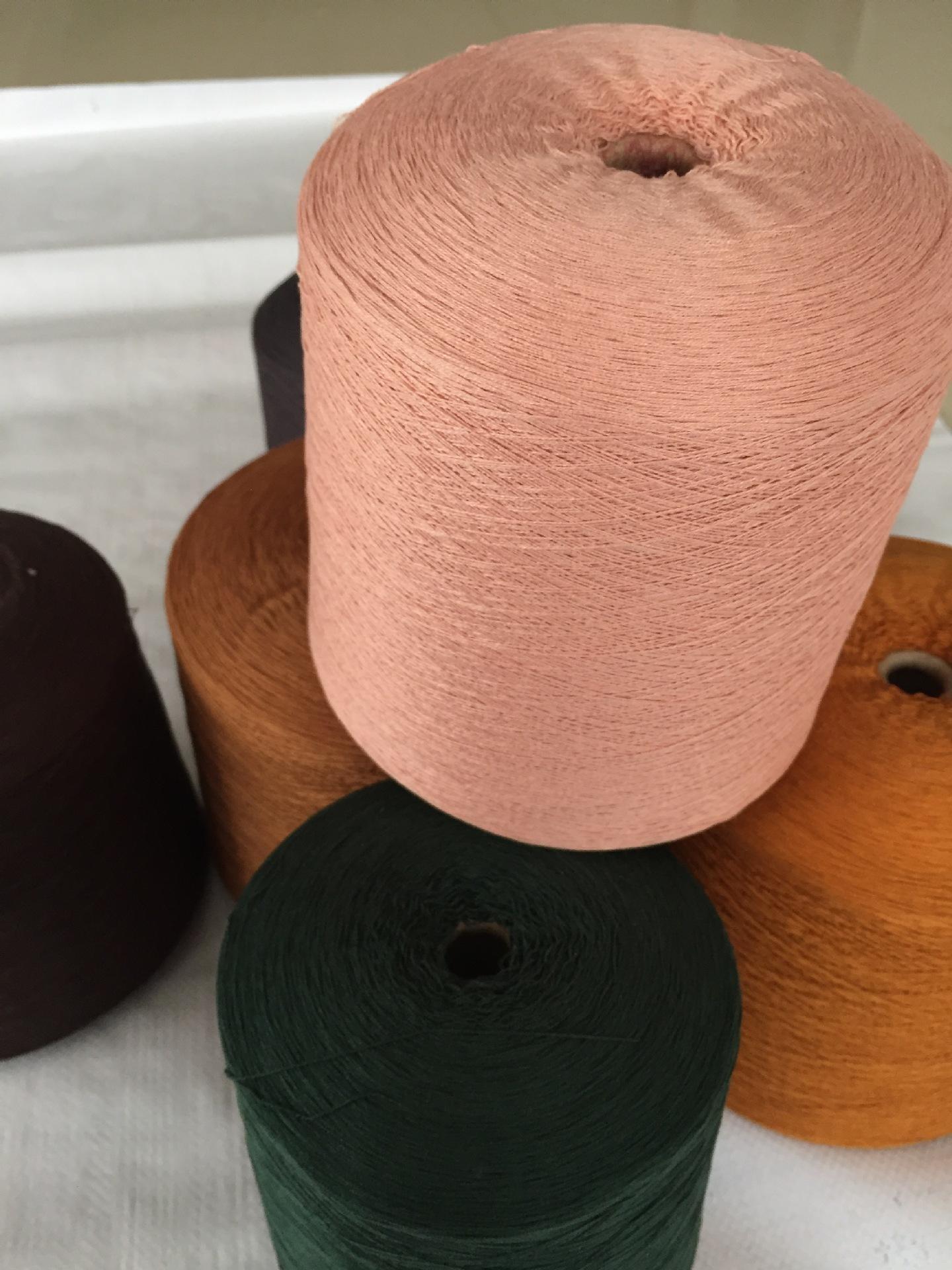 Jinyi Spun Silk 55% Silk 45% Cotton 60nm/260 Count Silk Cotton Yarn Knitted Blended Yarn