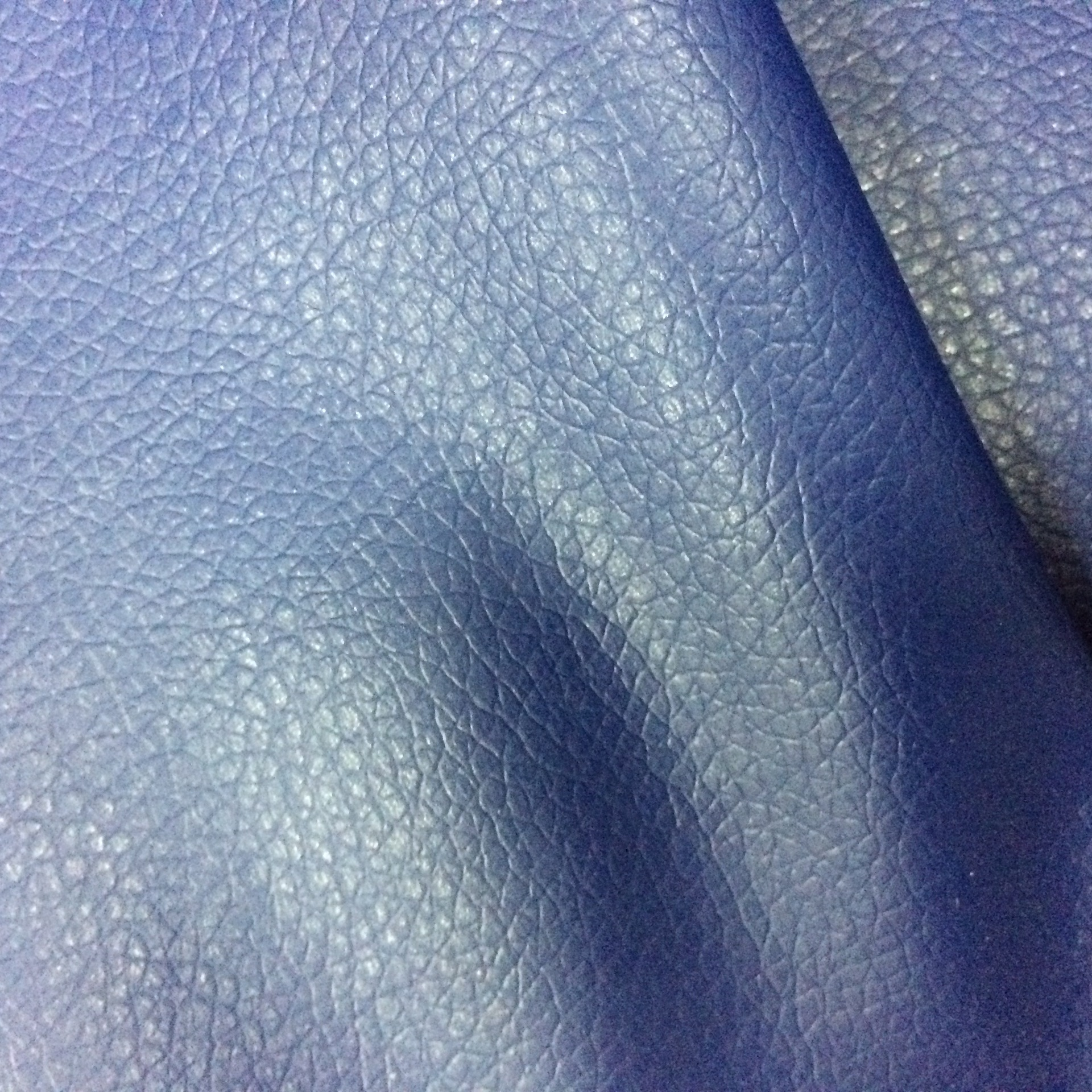YUGAO Small lychee pattern, artificial leather, synthetic leather, knitted bottom, non-stretchy, thi