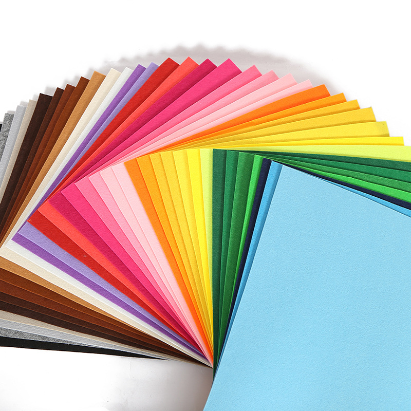 XINCAI 3mm non-woven fabric color can be customized felt cloth needle punched polyester non-woven fa
