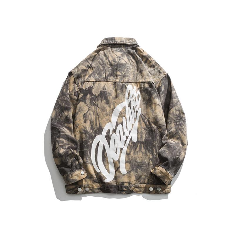 Not a vulgarity 2021 autumn new jacket men American tide brand camouflage tie-dye loose casual jacke