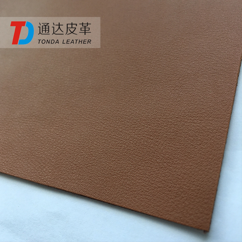 Tongda Leather Lychee Pattern Back Coating Fabric PVC Synthetic Leather Thick Leather 1.8mm Handbag