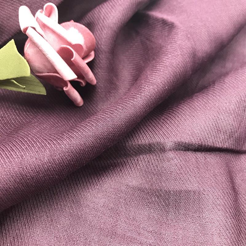 ZHENHAI Spring/Summer Thin Ramie Twill Color Breathable Garment Surface Twill Ramie Fabric Dress Wom