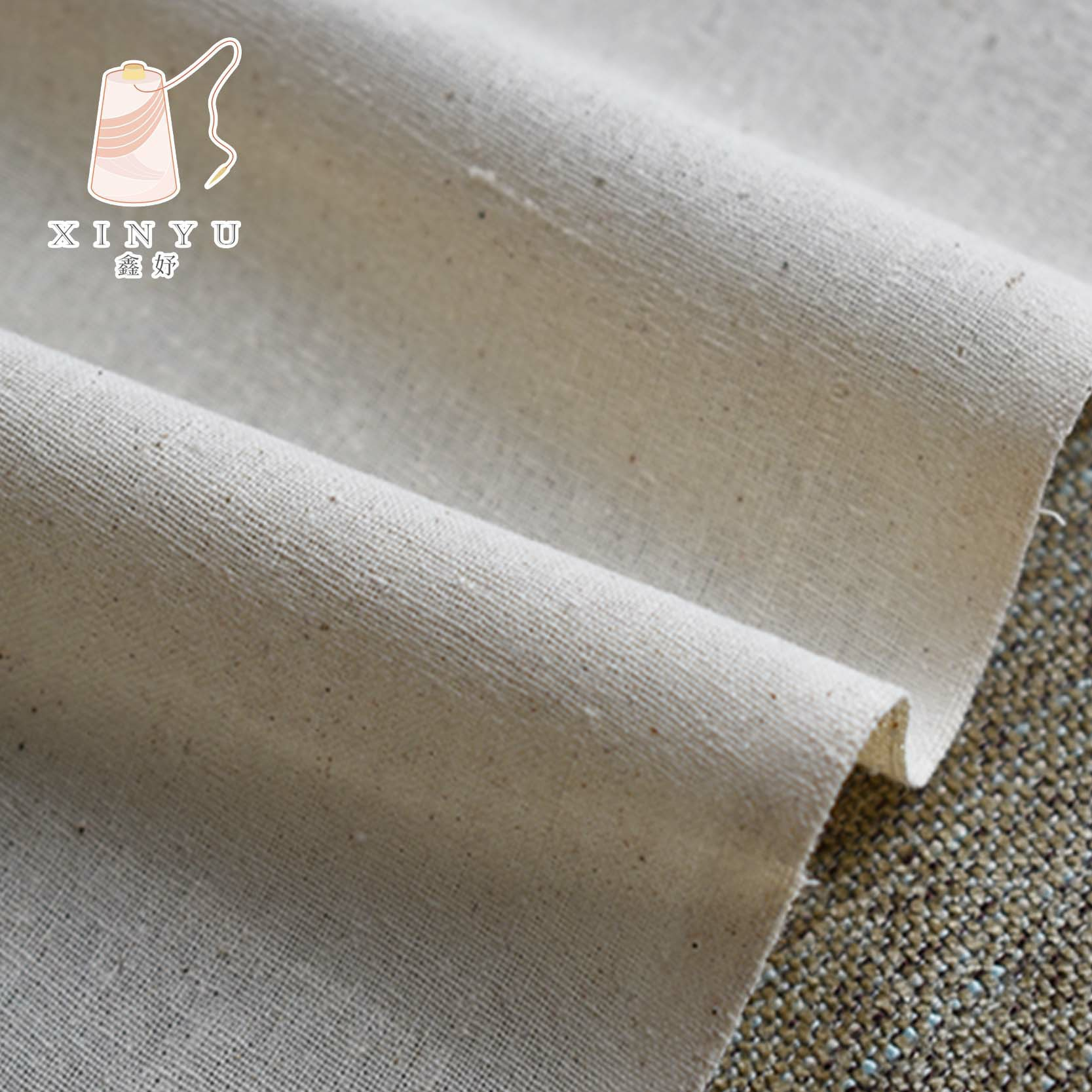 XINHAO Thickened white fabric, cotton homespun, student proofing clothing design, standing cut cloth