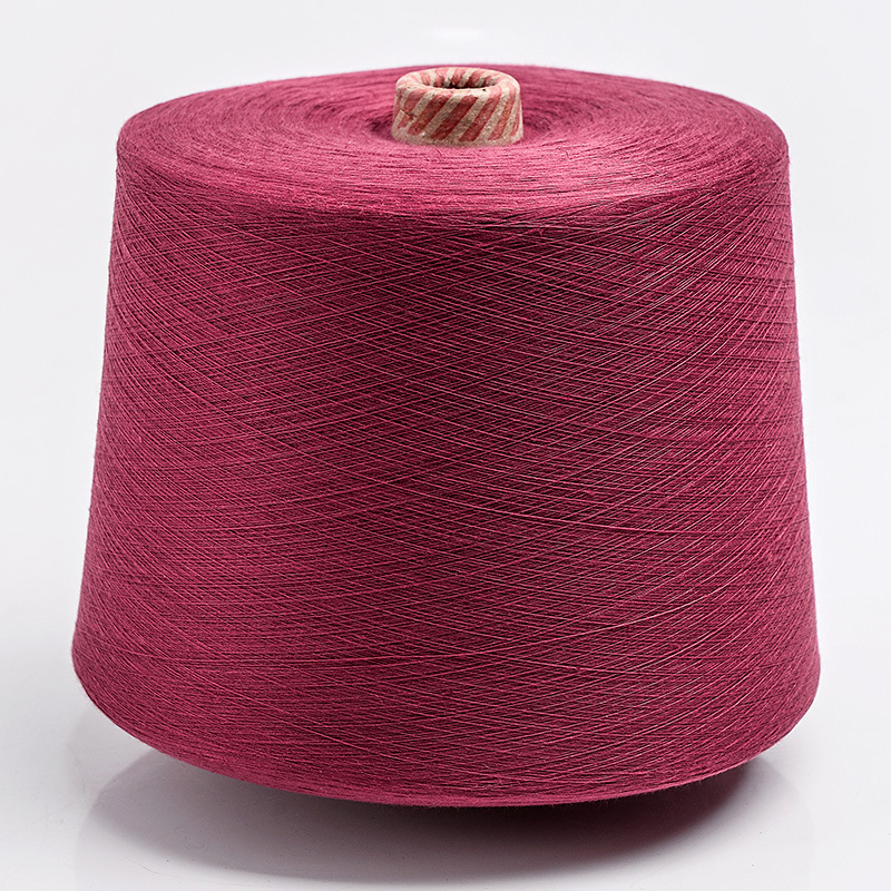21 counts of 32 counts of burgundy recycled polyester yarn dyed yarn for knitting webbing laces