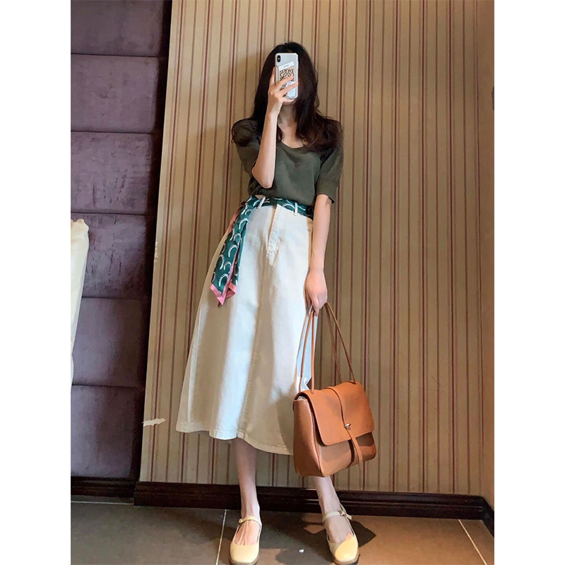 2021 new summer female designer sense temperament suit French chic all dress thin section