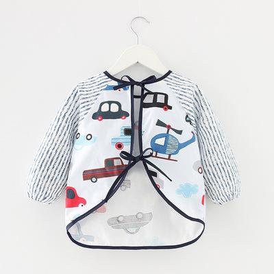 Quần áo trẻ em chống thấm nước dài tay chống mặc quần áo trẻ em ăn mặc tạp dề cotton trẻ em yếm quần
