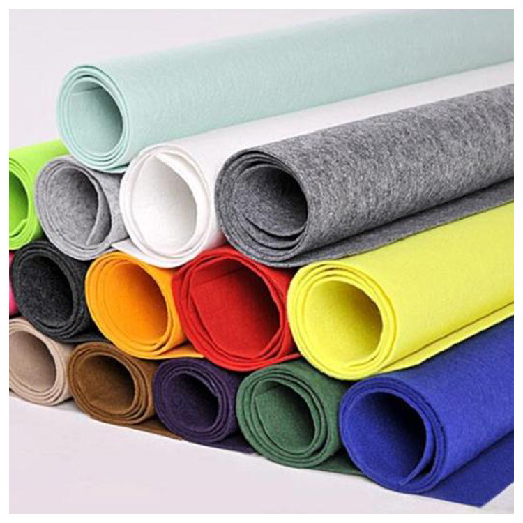 Colored felt non-woven fabric kindergarten felt non-woven fabric soundproof polyester needle-punched