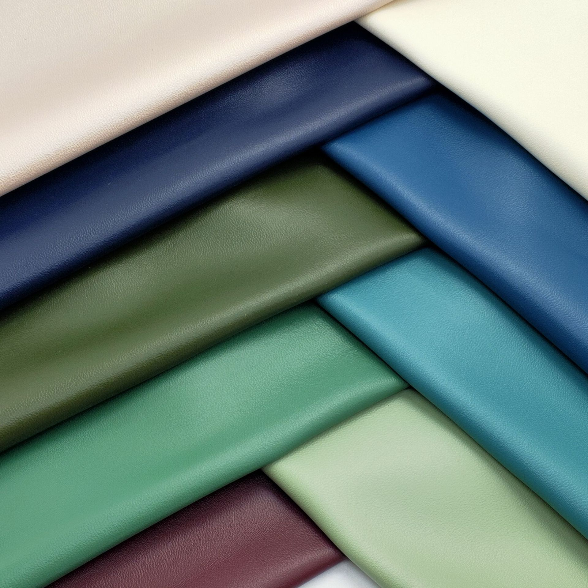 PU leather fabric super soft sheep pattern leather sheepskin pattern PU artificial leather bag cosme