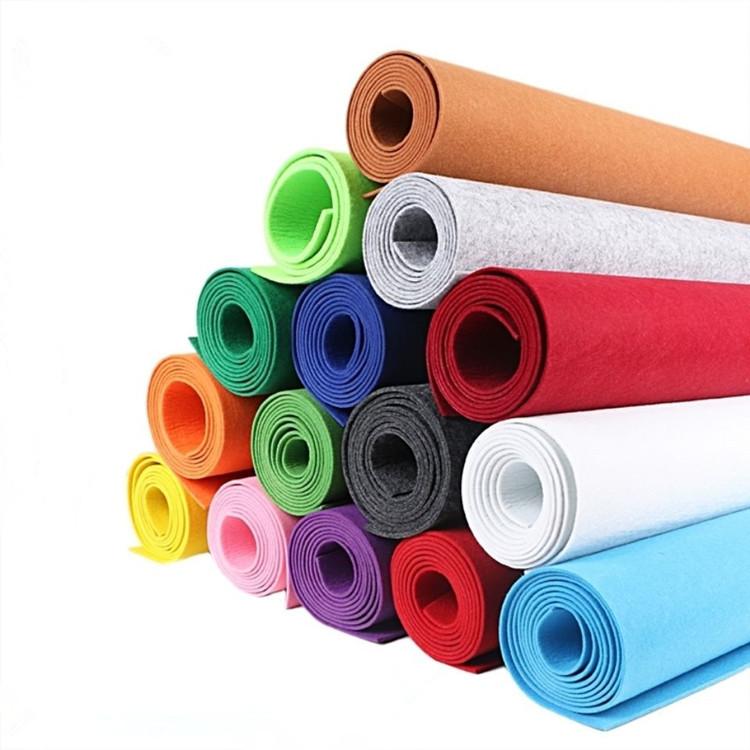 Color felt chemical fiber felt cloth adhesive felt multi-color optional 1-5 mm thick V