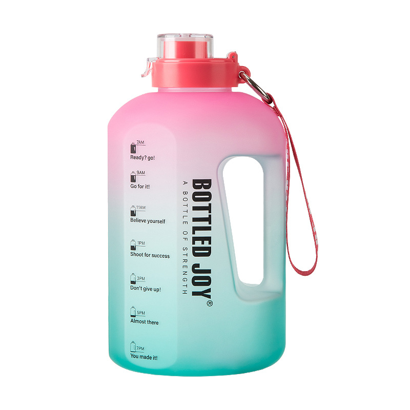 Net red blue ball ton barrel 1 gallon gradient color large kettle 1.5L large capacity water cup