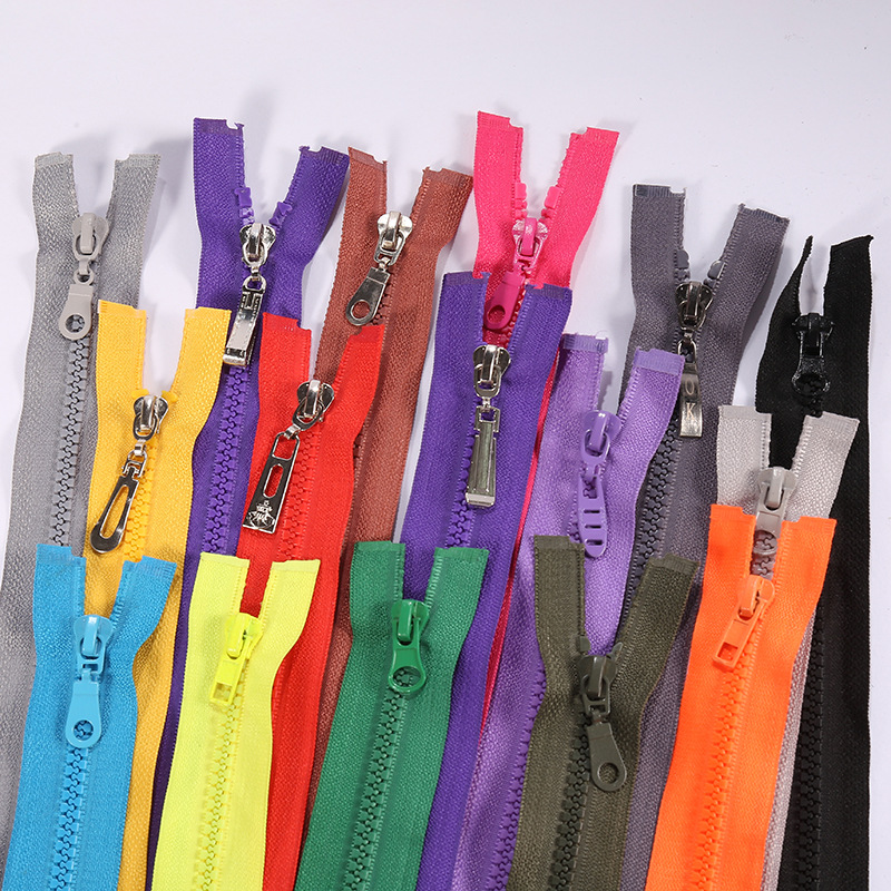 Open placket zipper No. 5 resin zipper down jacket Jacket self-locking zipper home textile luggage a