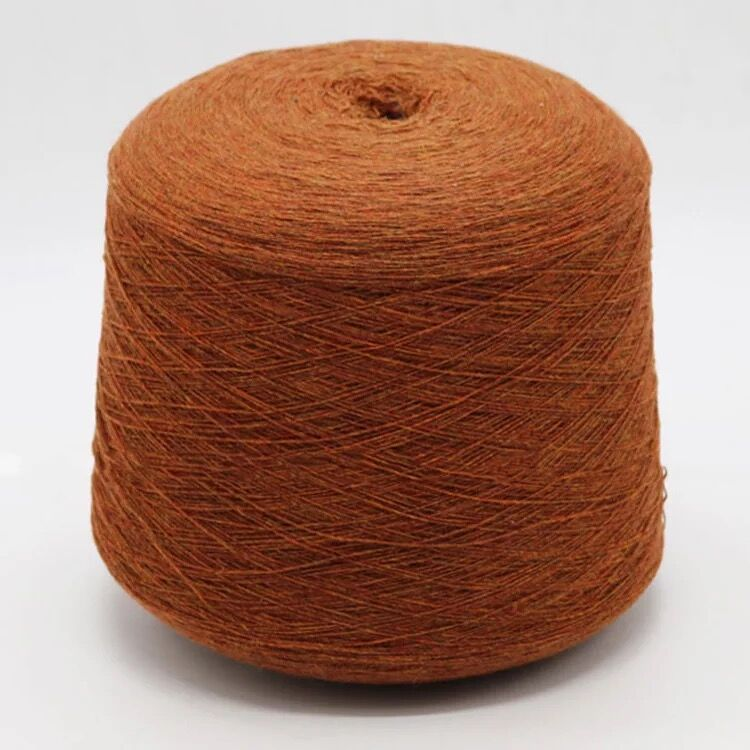 Chemical fiber yarn sheep wool mercerized 16S/1 colored yarn 40% polyester 5% mercerized 50% praline