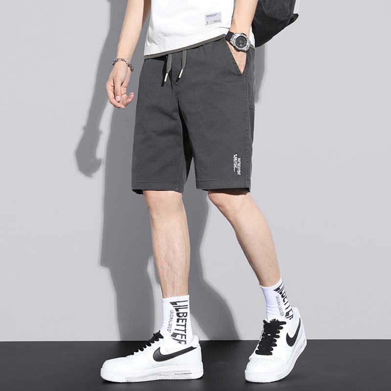 Summer Xinjiang Cotton Shorts Casual Pants 2021 Fashion Drawstring Loose Solid Color Pants Men's Sp