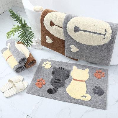 Phim hoạt hình phòng tắm nhà vệ sinh thấm nước chống trượt thảm trải sàn phòng ngủ mèo dễ thương bướ