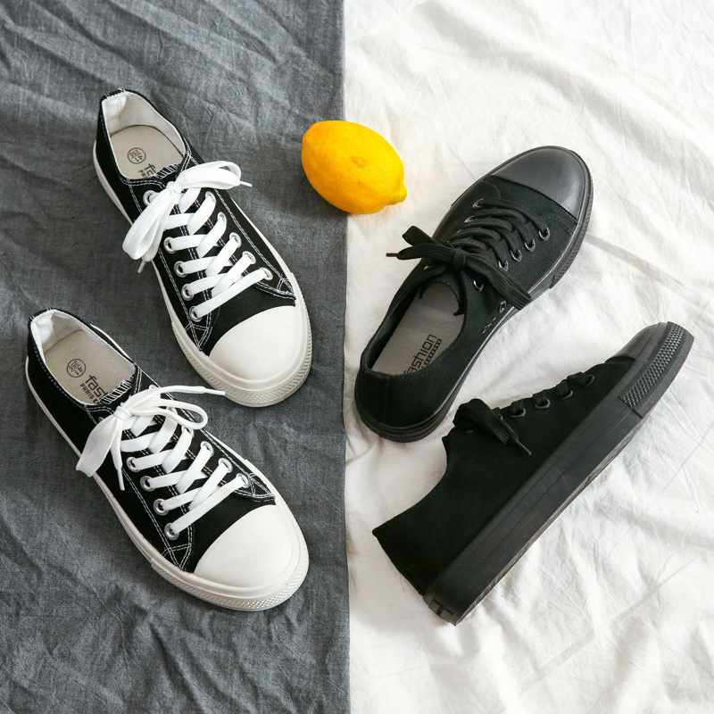 2021 spring and autumn all-match canvas shoes men and women Korean couples trend casual low-top snea