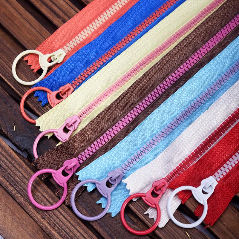 VAB No. 3 resin zipper different contrast color zipper handmade bag accessories