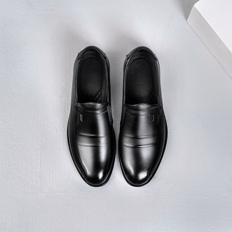 First layer cowhide men's formal leather shoes 2020 autumn new men's shoes round toe business leat