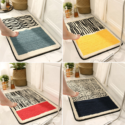 Xuyên biên giới mới đơn giản và nhẹ nhàng thảm trải sàn phòng tắm sang trọng thấm hút thảm nhà tắm c