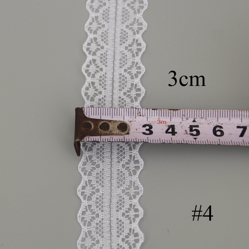 10 meter roll of polyester non-elastic lace semicircle lace clothing underwear DIY clothing accessor