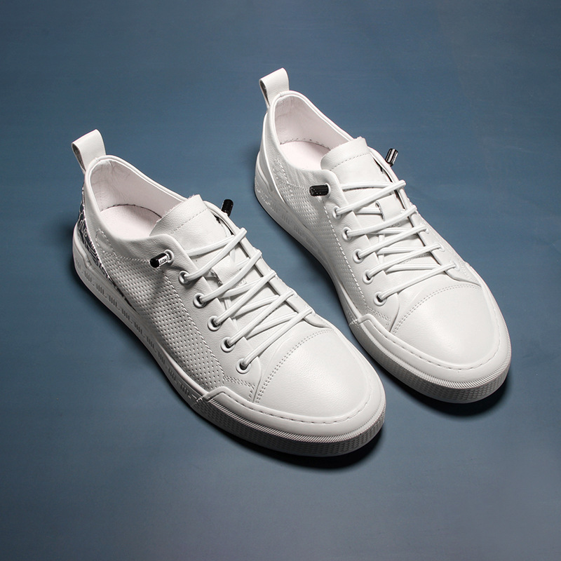 European men's shoes summer breathable thin casual shoes sneakers men's leather all-match 2021 new