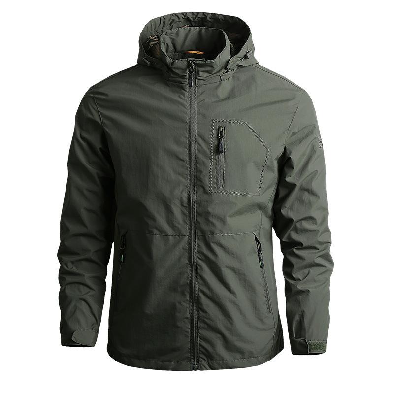 Mountaineering jacket men's quick-drying windbreaker thin casual jacket outdoor waterproof jacket