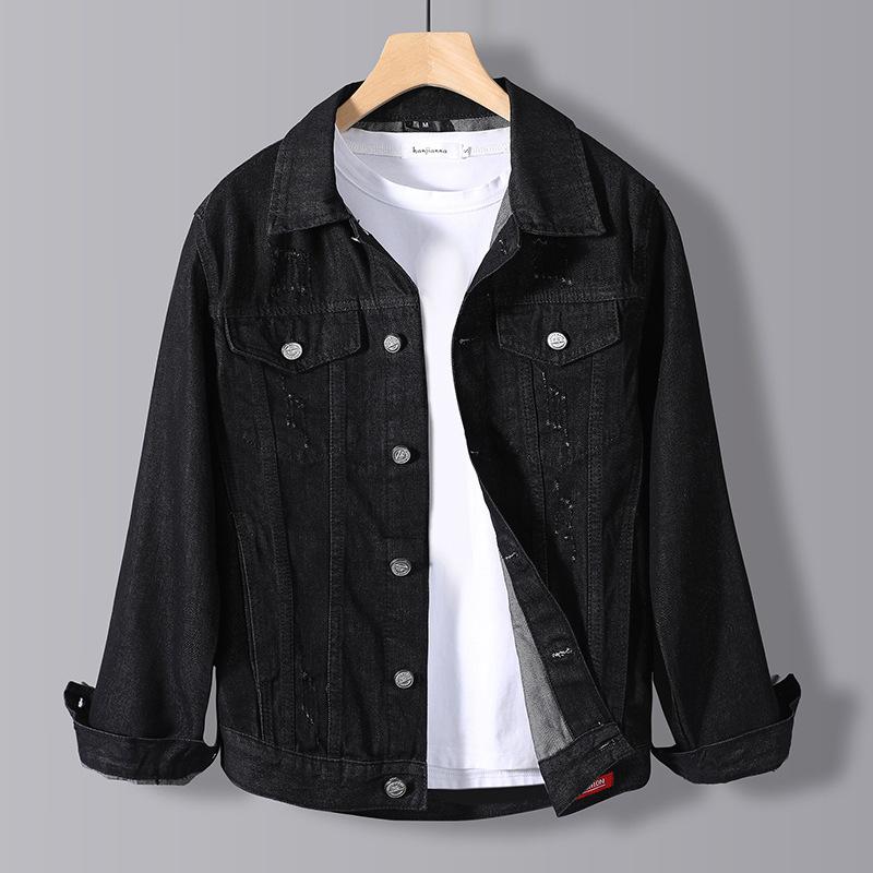 Denim jacket men's spring and autumn new trendy brand jacket loose youth street fashion handsome de