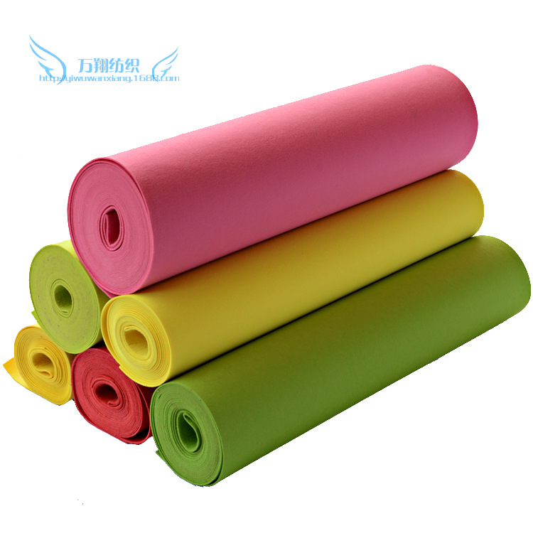1.5 thickness color felt fabric polyester chemical fiber felt non-woven fabric wall decoration diy c