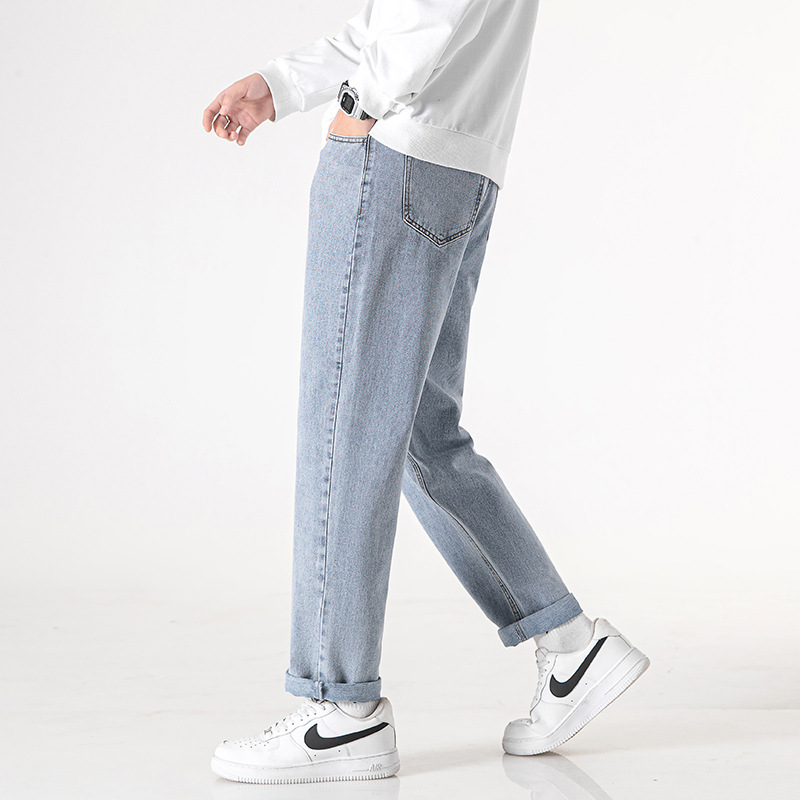 Jeans men's spring and autumn new straight loose Korean style trendy brand all-match pants men's c