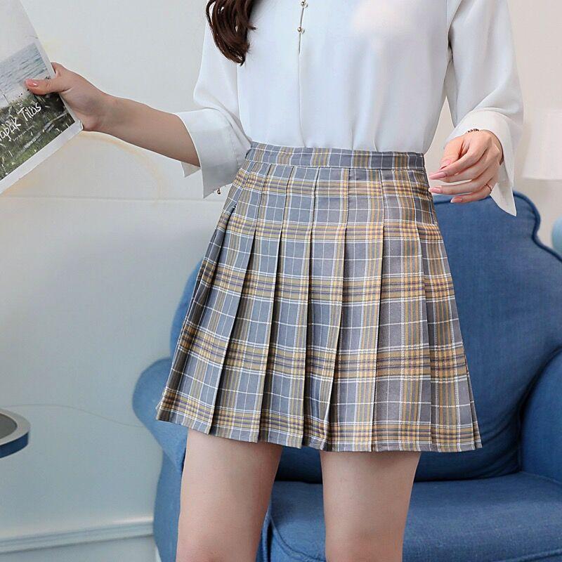 Autumn and winter new plaid pleated skirt skirt jk uniform skirt women's college style high waist s