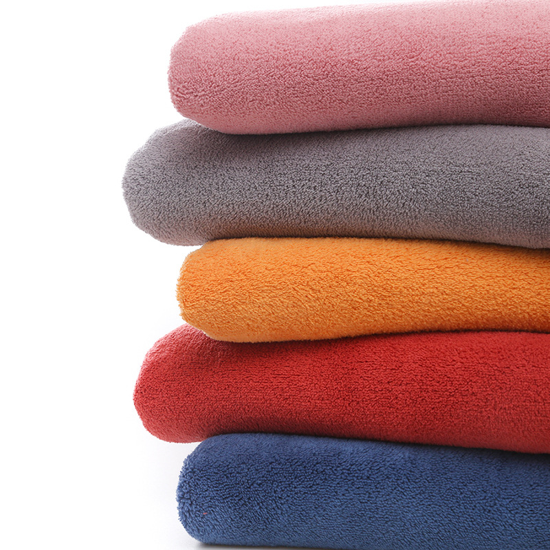 D.D.COTTON Plain double-sided polyester and nylon coral fleece blanket plush fabric, absorbent warp
