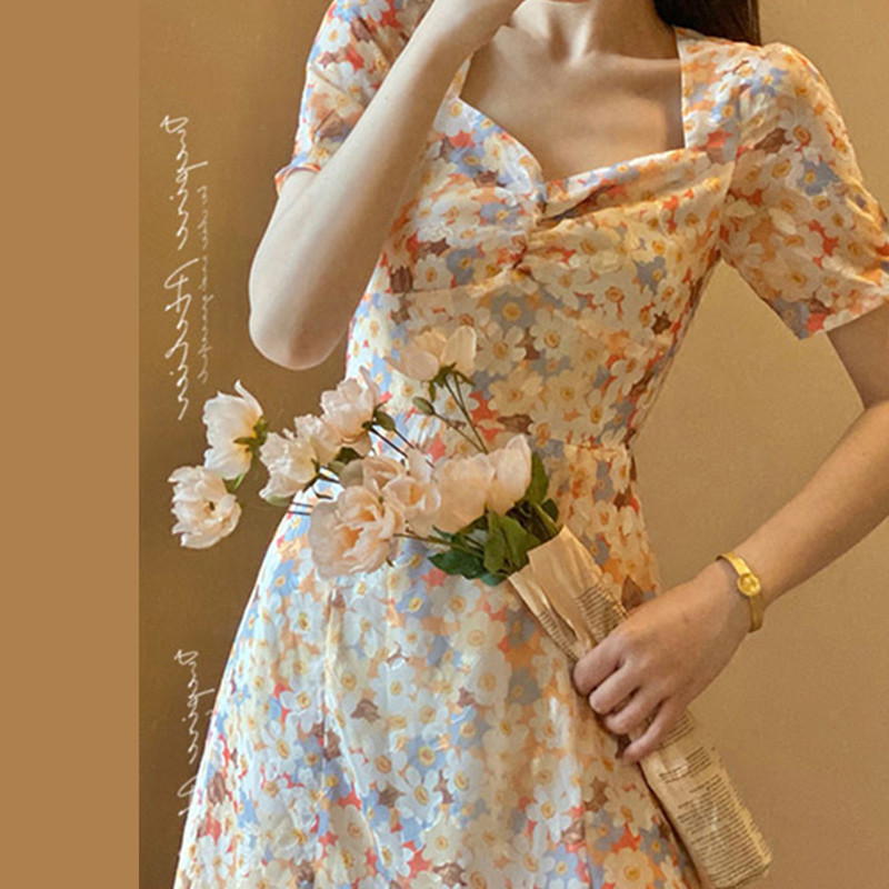 French tea break, retro platycodon, first love, salt and sweet fried street skirt, Monet oil paintin