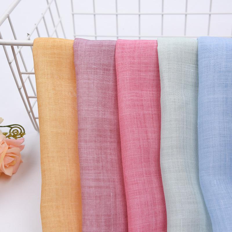Pure ramie fried color linen cotton fabric Zen clothing dress shirt clothing fabric Ramie cotton fab
