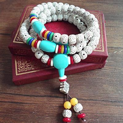 Giả Xingyue Bodhi Vòng tay nhiều lớp Nam và nữ Chuỗi hạt Phật giáo Chuỗi hạt nhiều vòng Phụ kiện Vòn