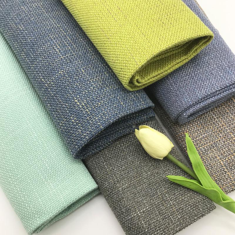 Autumn and winter new viscose polyester-cotton fabric blended sofa, slub hemp special yarn fabric, i
