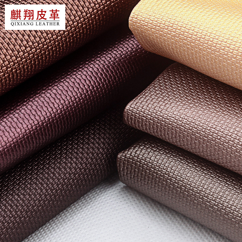 QIXIANG Fine woven pattern synthetic leather soft bag should report background wall decoration artif