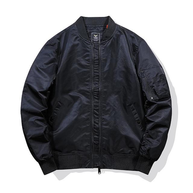 Trendy brand MA1 bomber jacket men's air force baseball uniform plus size tooling jacket