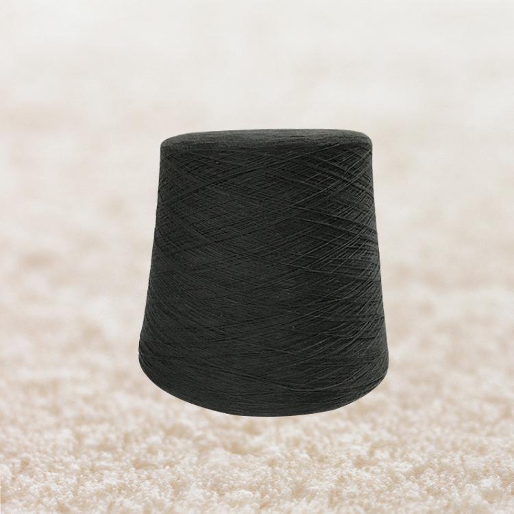 Cotton yarn 20S/2 black pure cotton yarn 100-200 kg sweater towel webbing weaving bed sheet glove ya