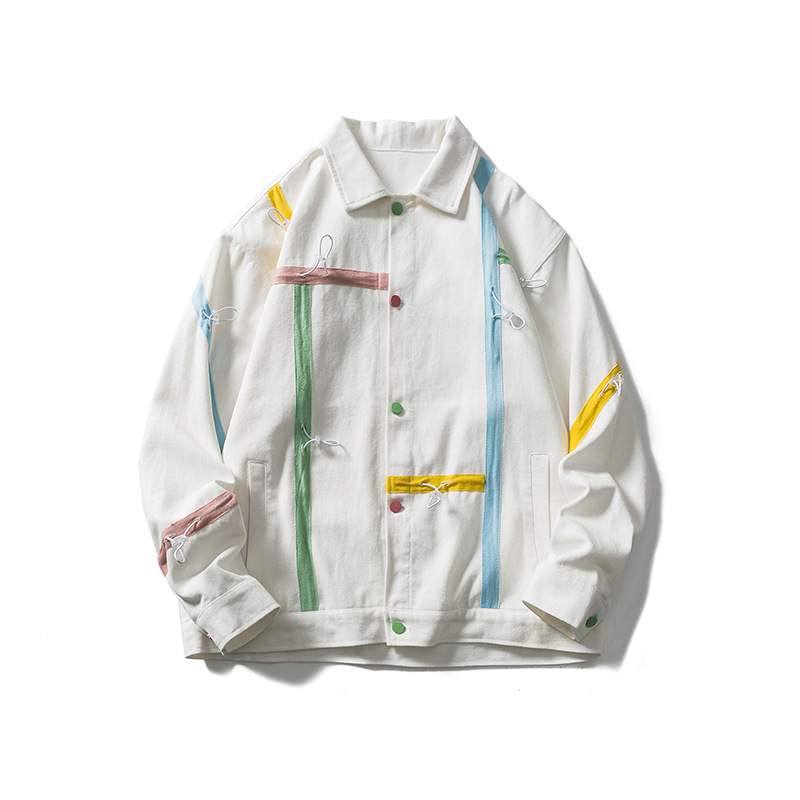 Not a vulgarity, the new color matching drawstring lapel top in the fall of 2021, trendy jacket, Jap