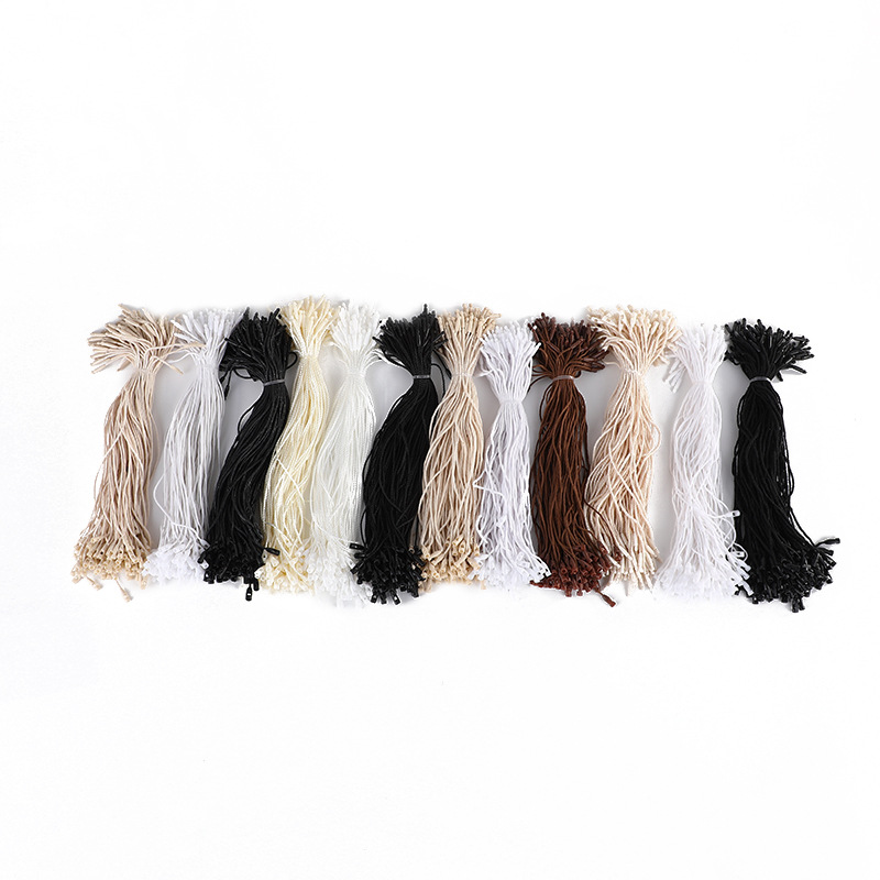 Color Medium Bullet Hanging Grain Wax Rope Clothing Tag Polyester Toy Jewelry Small Buckle Rope