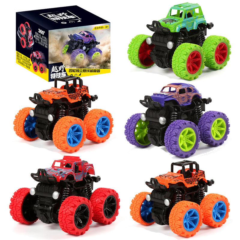 Children's toy simulation inertial four-wheel drive stunt off-road vehicle car toy car night market