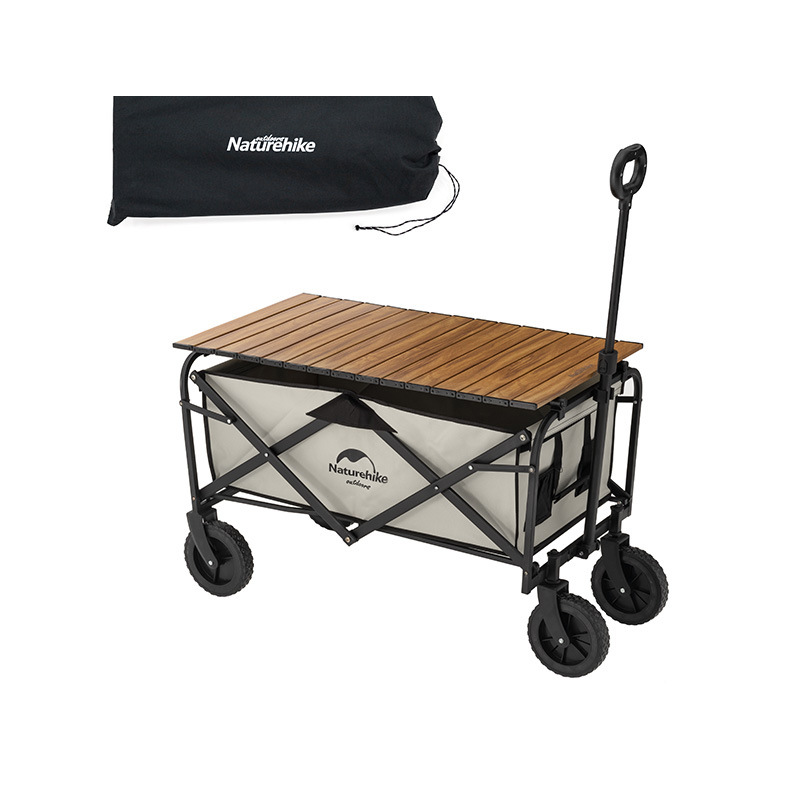 Naturehike Mobile Portable Camping Folding Bike Outdoor Camping Trolley Table Picnic Pull Car Camp