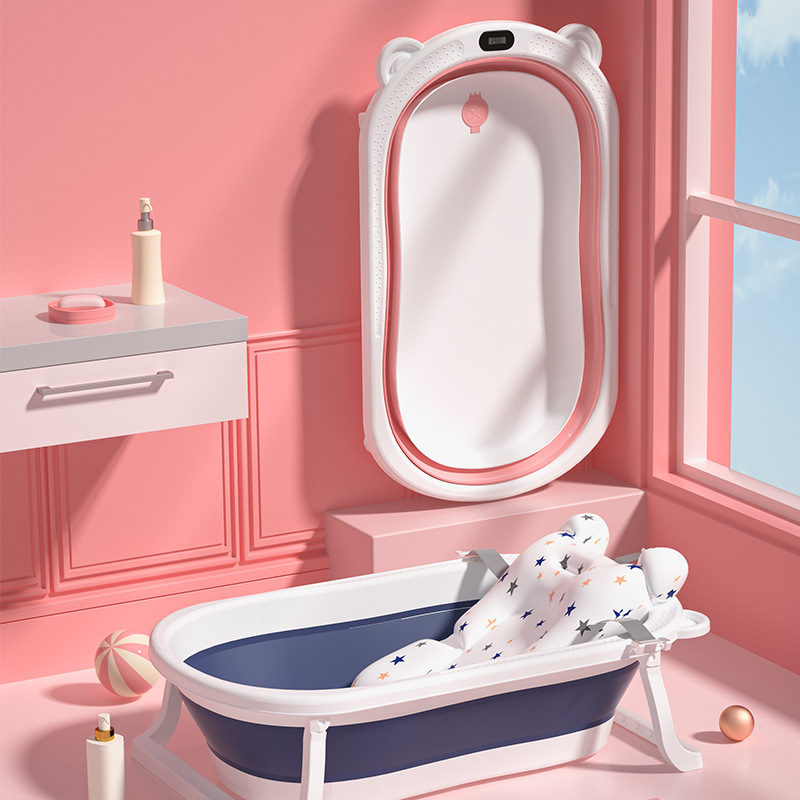 Baby Bathtub Bathtub Baby Foldable Toddler Sitting and Lying Large Bathtub Kid Home Newborn Children