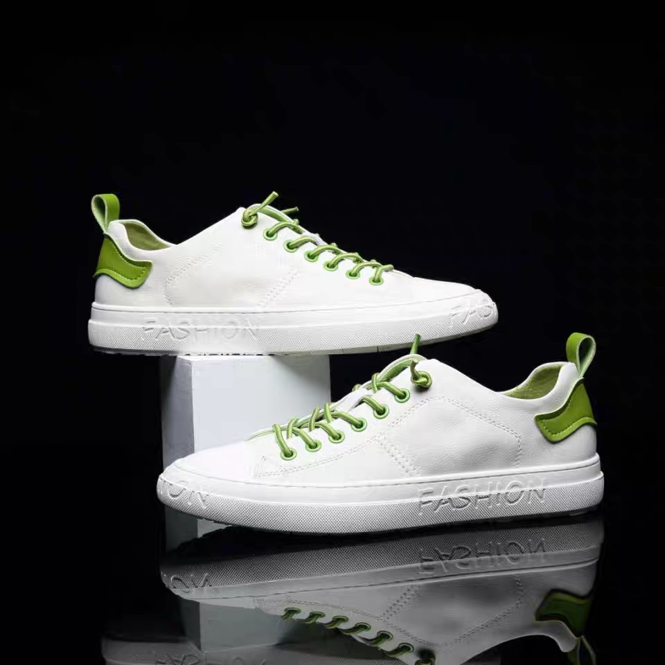 2021 new four seasons shoes cowhide lace-up casual shoes soft sole sports non-slip comfortable all-m