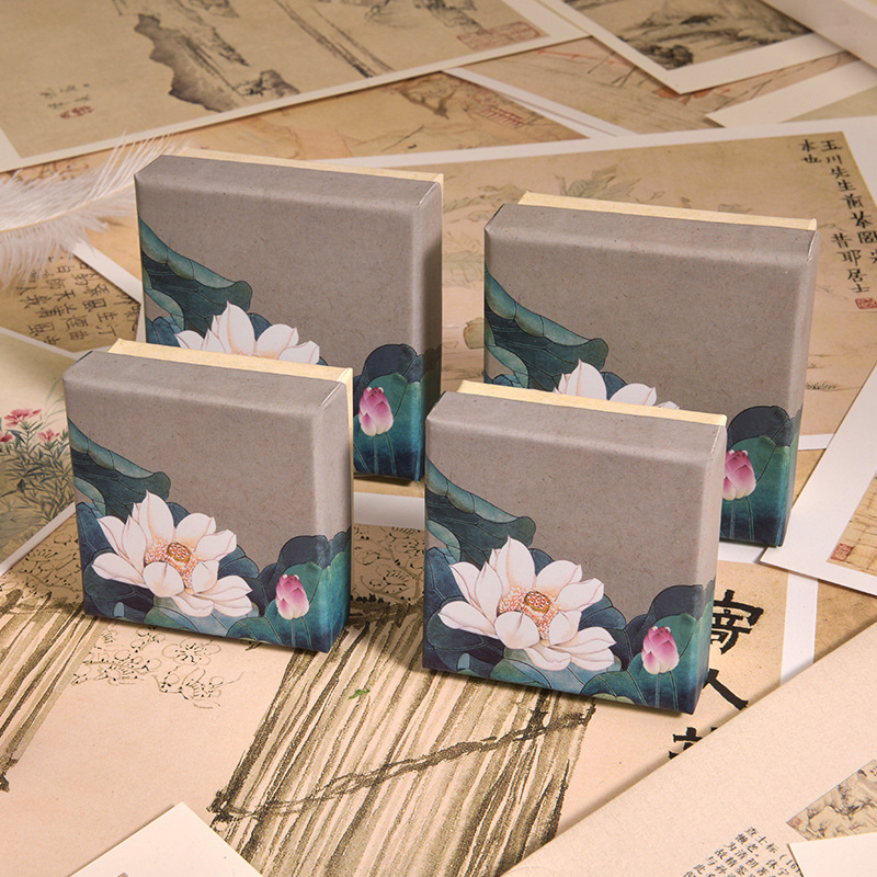 Retro Jewelry Packaging Box World Cover Bracelet Necklace Gift Box Jewelry Packaging Box