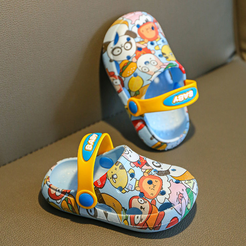 Hole shoes children slippers summer 4 boys 2 years -6 years old wear non-slip middle and small child