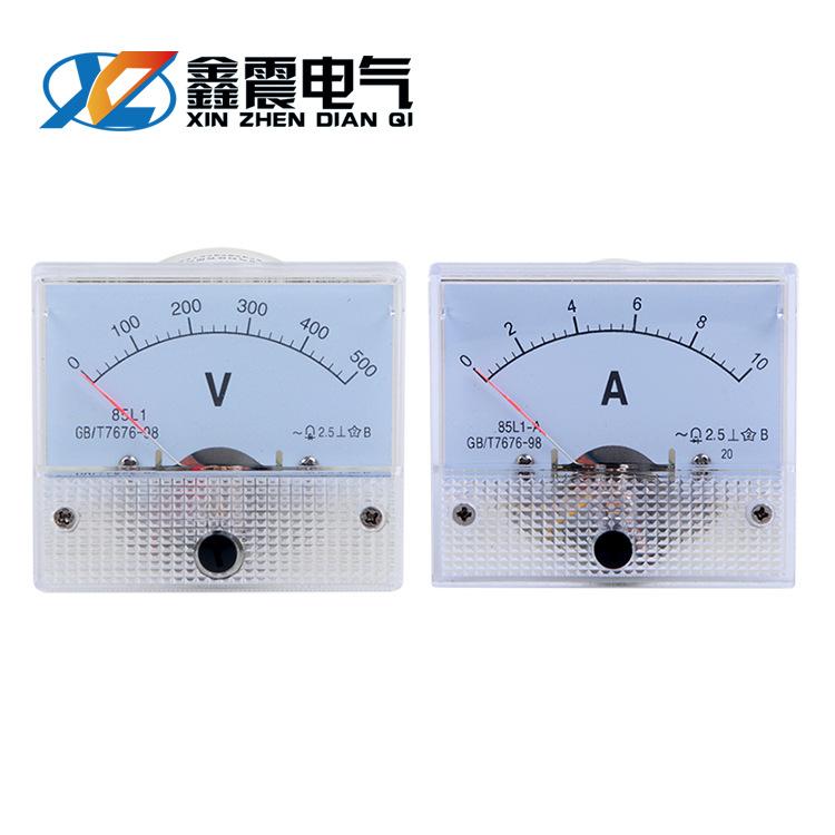 CHKL 85L1 current measuring instrument 0-100A pointer current voltmeter AC voltmeter 450v
