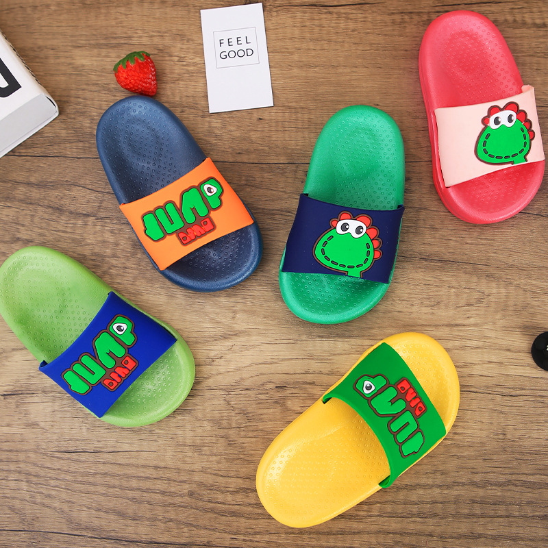 New children's cartoon slippers with thick bottom, indoor bathroom baby slippers, outer wear cute s