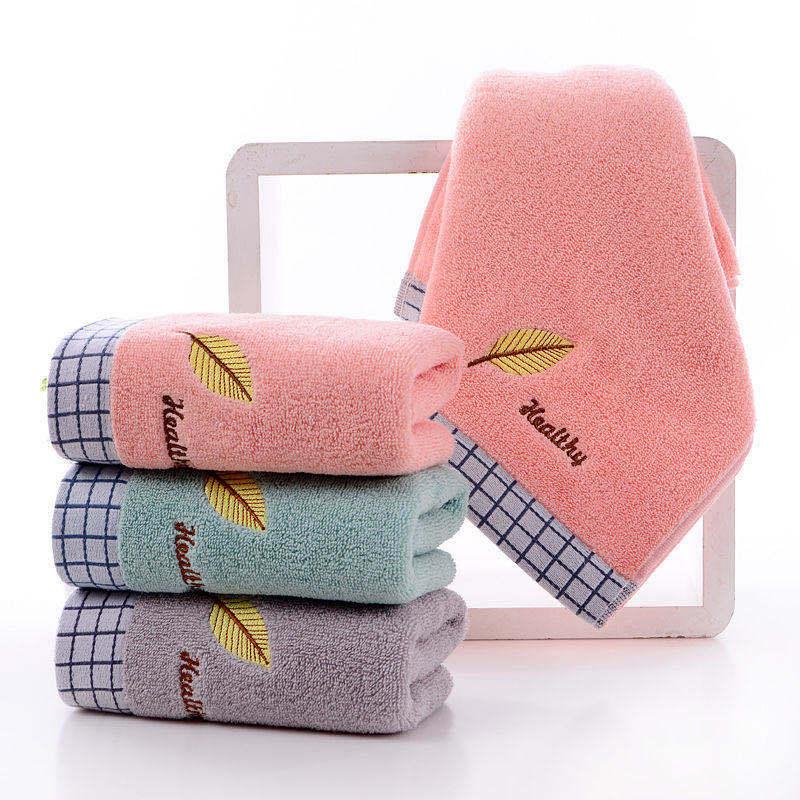 Pure cotton textile towel household absorbent cotton face towel